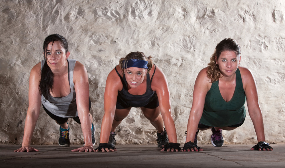 Women doing pushups